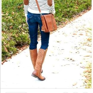 Steve Madden Northsde Cognac Leather Boots